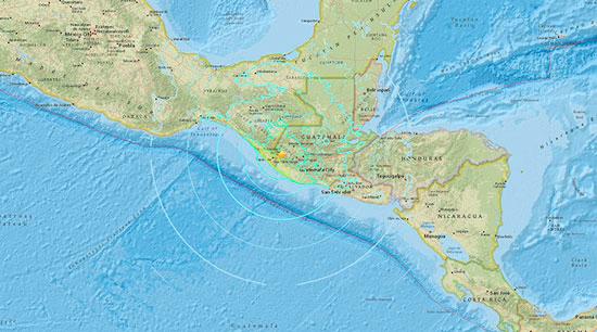 Registran sismo de 6.8 frente a costa de Guatemala