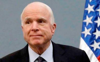 Excandidato a la Casa Blanca, John McCain, padece cáncer cerebral