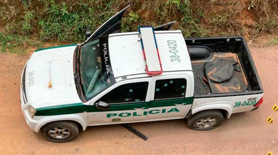 Un policía herido por ataque con explosivos a una patrulla en Antioquia