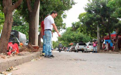 Por avenidas principales comenzará reparcheo y cambio de lozas en Valledupar