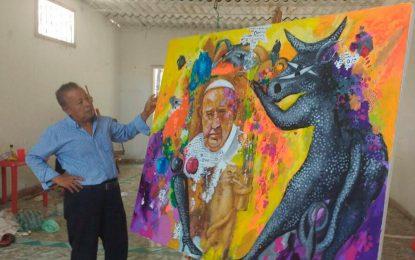 El artista ateo que hizo una pintura dedicada al papa