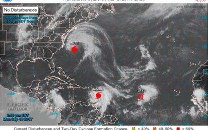 Huracán María sube a categoría 3 y se teme que sea más devastador que Irma