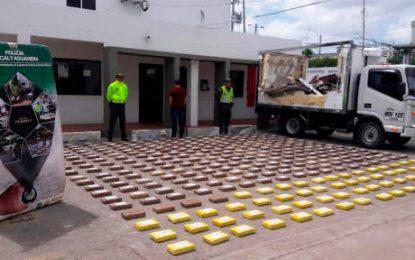 Incautan 339 kilos de cocaína en La Guajira