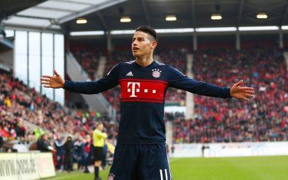 Los hinchas del Bayern se rinden a los pies de James
