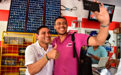 El sector del Boliche abrazó al candidato de las clases populares, Didier Lobo