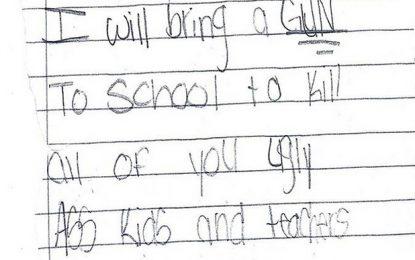 Tras masacre en Florida, niña de 11 años amenaza con matar a profesores y estudiantes
