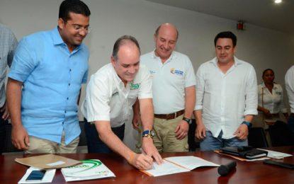 Gobernador Ovalle asegura segunda fase de Aeropuerto Hacaritama de Aguachica