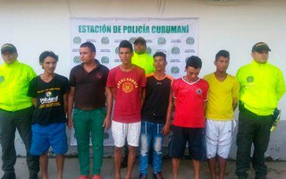 Caen 'Los Gomosos', banda criminal que operaba en Curumaní