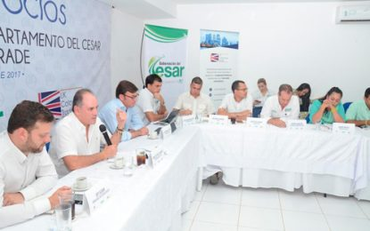 Empresarios británicos se comprometen a realizar inversión a largo plazo en Cesar
