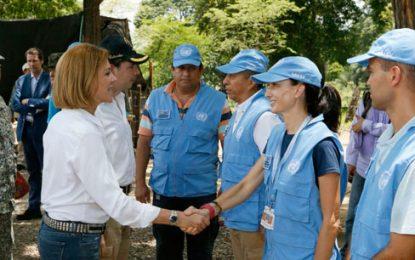 Ministra de Defensa de España visita zona veredal de las Farc en La Guajira