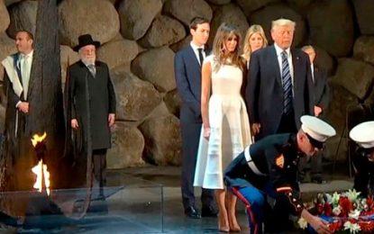 Trump visita museo del Holocausto de Jerusalén y pide que 'no se repita nunca más'