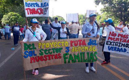 En Bosconia 500 personas protestaron por falta de pago de Ruta del Sol III