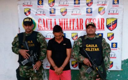 Capturado miembro de las redes de apoyo al terrorismo del ELN en el Cesar