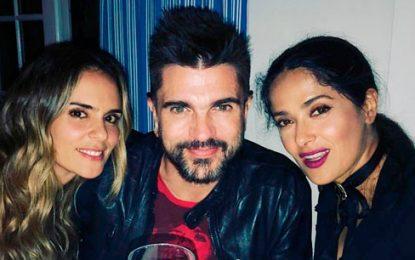 Juanes presume en redes sociales amistad con Salma Hayek