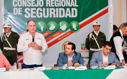 Mejores resultados en seguridad exigió el gobernador Franco Ovalle a la fuerza pública