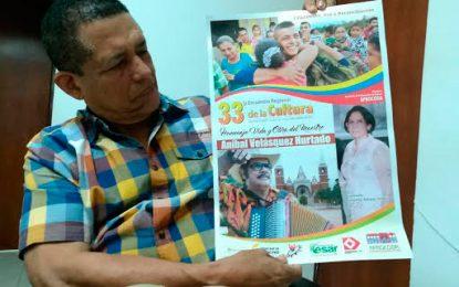 Aníbal Velásquez el homenajeado en 33 encuentro regional de la cultura en Codazzi
