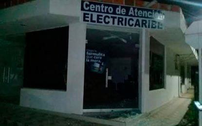 En Chimichagua atacan sede de Electricaribe por fallas en el servicio