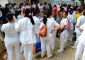 Paro de enfermeras auxiliares en el Hospital Rosario Pumarejo