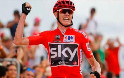 Froome ganó la novena etapa y Chaves fue segundo en la Vuelta a España