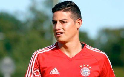 James Rodríguez anota su primer gol con el Bayern Munich