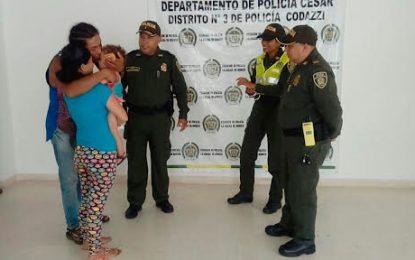 Rescatan a niña de 15 meses raptada en Codazzi, Cesar