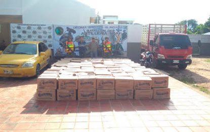 Capturan dos sujetos cuando transportaban mercancía, supuestamente hurtada en Valledupar