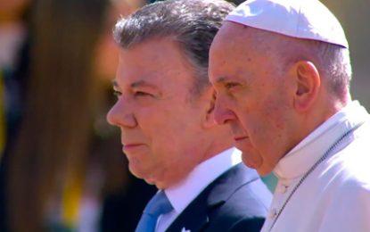 'Quise venir hasta aquí para decirles que no están solos': el papa desde la Casa de Nariño