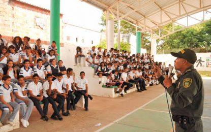 Socialización del nuevo Código Nacional de Policía y Convivencia avanza en colegios de Valledupar