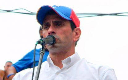 Capriles anuncia retiro de la coalición opositora venezolana