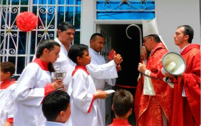 Con el apoyo de Drummond se inauguró la Casa Cural de la Iglesia Santo Cristo de La Loma, Cesar