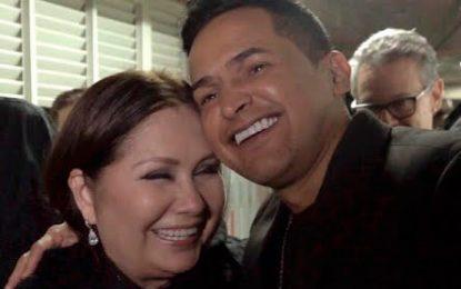 Jorge Celedón y Ana Gabriel juntos en Pereira, en el concierto del año