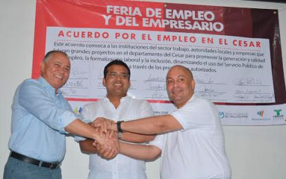 Comfacesar firmó acuerdo por el empleo en el Cesar