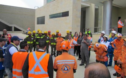 Gestión de Riesgo participa en simulacro Nacional de Respuesta a Emergencias