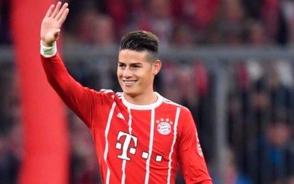 James Rodriguez, gol y partidazo con el Bayern en la Bundesliga