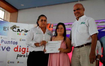 60 Niños en condición de discapacidad en Cesar acceden al mundo digital ¨