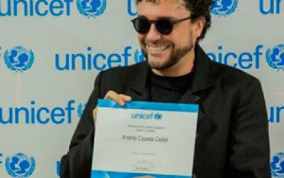 Andrés Cepeda nombrado Embajador de Buena Voluntad de UNICEF Colombia