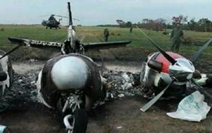 FAC derribó avioneta del narcotráfico en Barranquilla