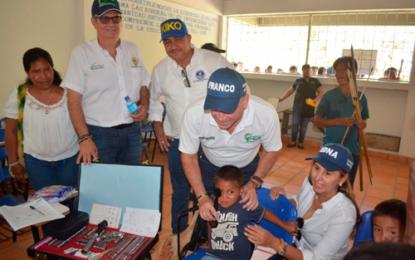 Programa de Salud Visual y Auditiva para niños indígenas del departamento