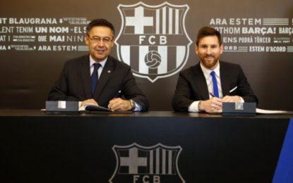 Messi firma nuevo contrato con el Barcelona hasta el 2021