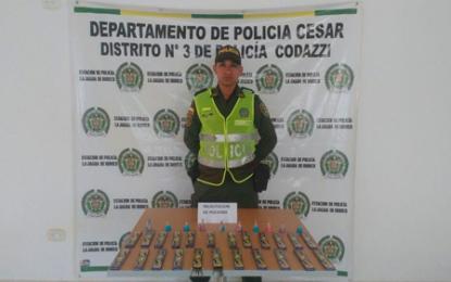 Policía incauta pólvora en Cesar