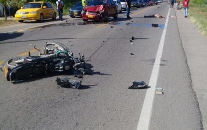 Accidente entre Valledupar-La Paz deja un muerto