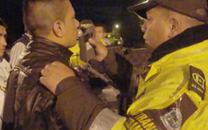 Sancionados 105 conductores ebrios durante festivo de Navidad