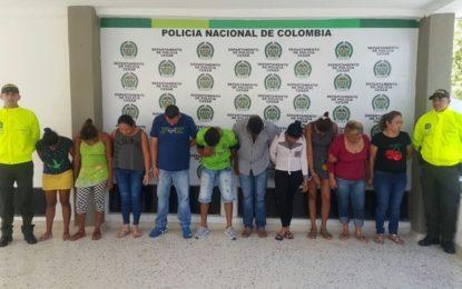 Desarticulan la banda 'El Boliche': 12 capturados en Valledupar