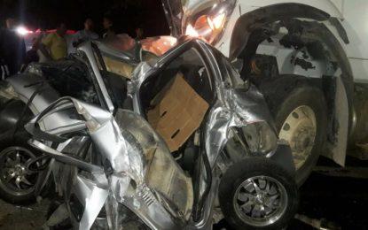 Dos personas muertas y un policía herido en accidente en Cesar