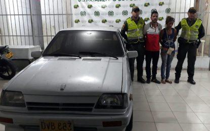 En rápida acción, Policía recupera vehículo robado en Valledupar