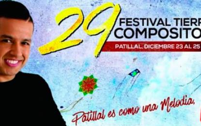 20 de diciembre cierran inscripciones para los concursos del 29º Festival Tierra de Compositores de Patillal