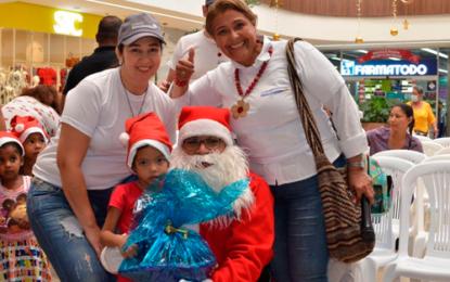 150 niños vulnerables de Valledupar fueron felices en esta Navidad