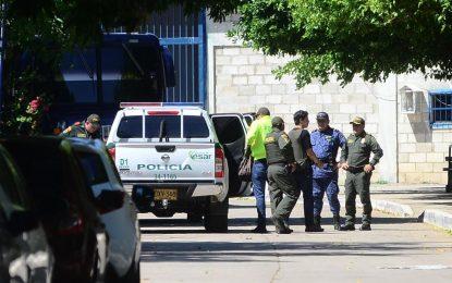 En helicóptero de la Policía fue trasladado a Valledupar el presunto autor del atentado en Barranquilla