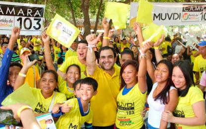 Masiva asistencia en primera concentración de Fawzi Muvdi en Valledupar