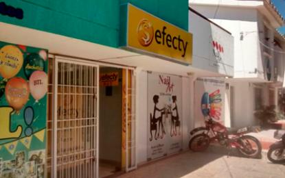 Más de 10 millones de pesos en robo a Efecty en Valledupar